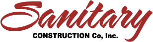 Sanitary Contruction - Red Script Logo